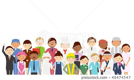 外國人工作各種各樣的人 48474547