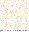 음악 광고 필기 일러스트 배경 48475928