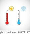 heat thermometer icon symbol hot cold weather 48477147