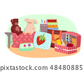 Sewing Products Illustration 48480885