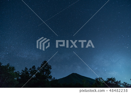 從栃木縣Senjogahara看到的滿天星斗的天空 48482238