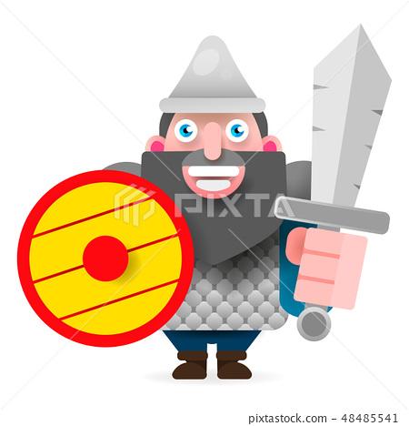 Russian hero. Separate living head of epic hero  48485541