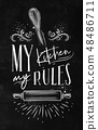 Poster my kitchen rules chalk 48486711