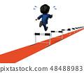 장애물 달리기를 닮은 관리를 나타내는 추상 48488983