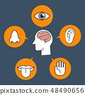 Five human senses illustration presentation 48490656