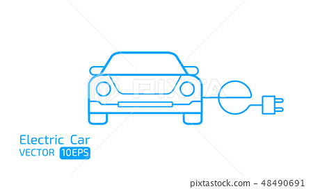 Electric car concept  icon on white space BG 48490691