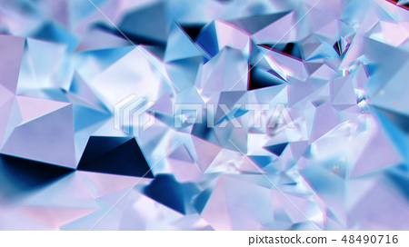 Abstract purple and blue crystal triangular BG 48490716