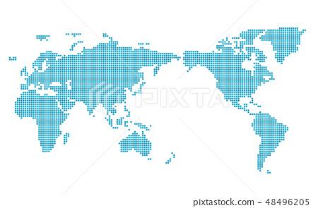 馬賽克世界地圖Wold Map 48496205