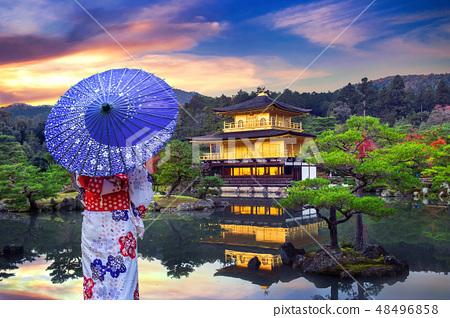 Asian woman wearing japanese traditional kimono  48496858