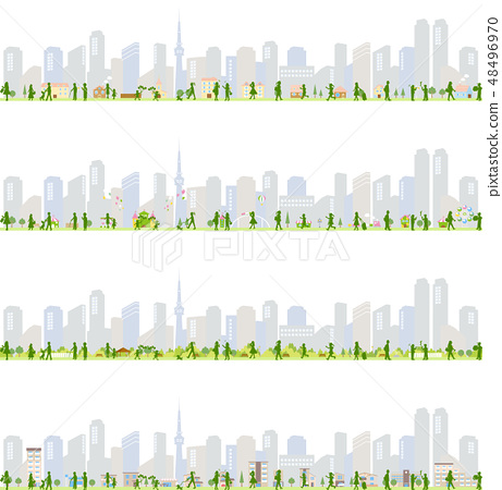 都市風景人例證集合 48496970