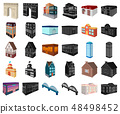 Building and architecture cartoon,black icons in set collection for design.The building and dwelling 48498452
