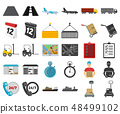 Logistics service cartoon,black icons in set collection for design. Logistics and equipment vector 48499102