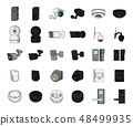 Isolated object of cctv and camera sign. Set of cctv and system vector icon for stock. 48499935