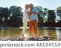 노인, 가족, 강 48504550