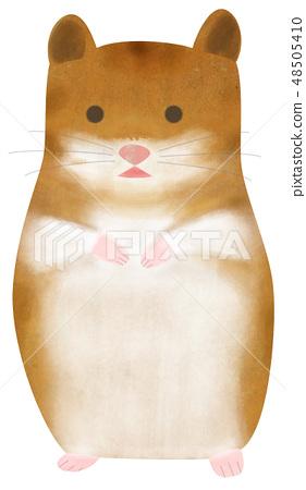 Hand-painted animal hamster 48505410