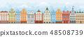 European Cityscape Seamless 48508739