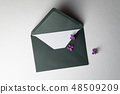 Spring card with lilac 48509209