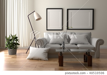 Living Room Interior - Room Scandinavian style 48510506