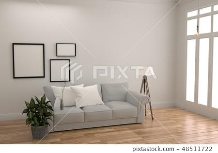 White Room Interior Scandinavian Style 48511722