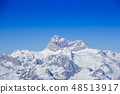 Panoramic view of the snowy mountain Triglav  48513917