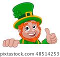 Leprechaun St Patricks Day Cartoon Character 48514253