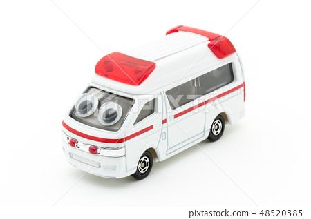 Ambulance with eyeball seal: wiggly-eyed ambulance 48520385
