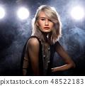 Fashion Asian Woman dark smoke back rim light 48522183