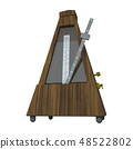 3D rendering illustration metronome on white background 48522802