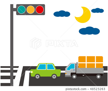 汽車汽車行駛軌道信號燈信號 48523263