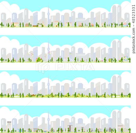 都市風景人例證集合 48523331