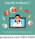 製藥業 藥學 橫幅 48523989