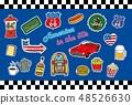1950 년대 미국 포스트 카드 (배경 블루) 48526630