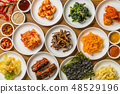 전형적인 한국 요리 typical Korean foods 48529196