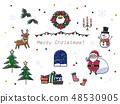 크리스마스 일러스트 2 48530905