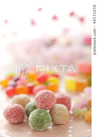 Various sweet candy and sweets of sugar... - Stock Photo [48531658] - PIXTA