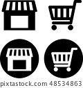 Shop and shopping cart icon 48534863