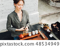 Oriental Master of tea ceremony  48534949