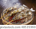 Salt-grilling of sweetfish - charcoal - charcoal 48535960