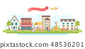 City park - modern flat design style vector illustration 48536201