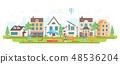 Urban district - modern flat design style vector illustration 48536204