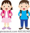 가방을 짊어진 초등학생 48536248