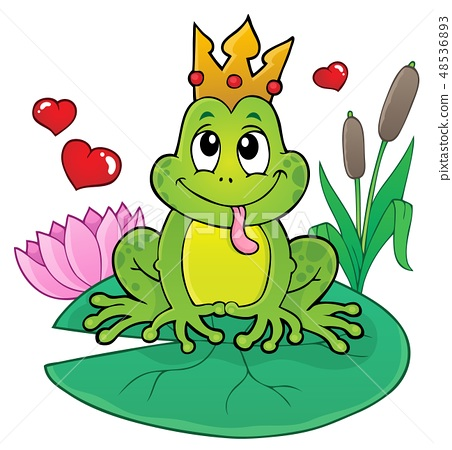 Frog with crown theme image 2 48536893