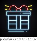 상품, 네온, 상자 48537137