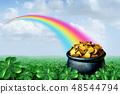 Pot Of Gold Rainbow 48544794