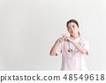 간호사 흰색 배경 48549618