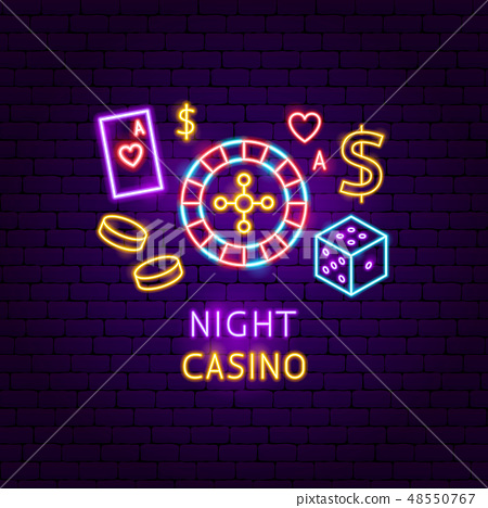 Night Casino Neon Label 48550767