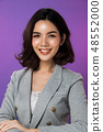 Business woman Stand in gray Formal Suit 48552000