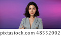 Business woman Stand in gray Formal Suit 48552002