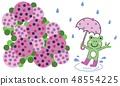 우천의 날 개구리 (핑크) 48554225