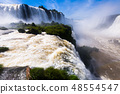 Waterfall Cataratas del Iguazu on Iguazu River, Brazil 48554547